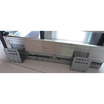Rostfritt stål diskbänk skåp korg trilateral korg utrustad med dämpning