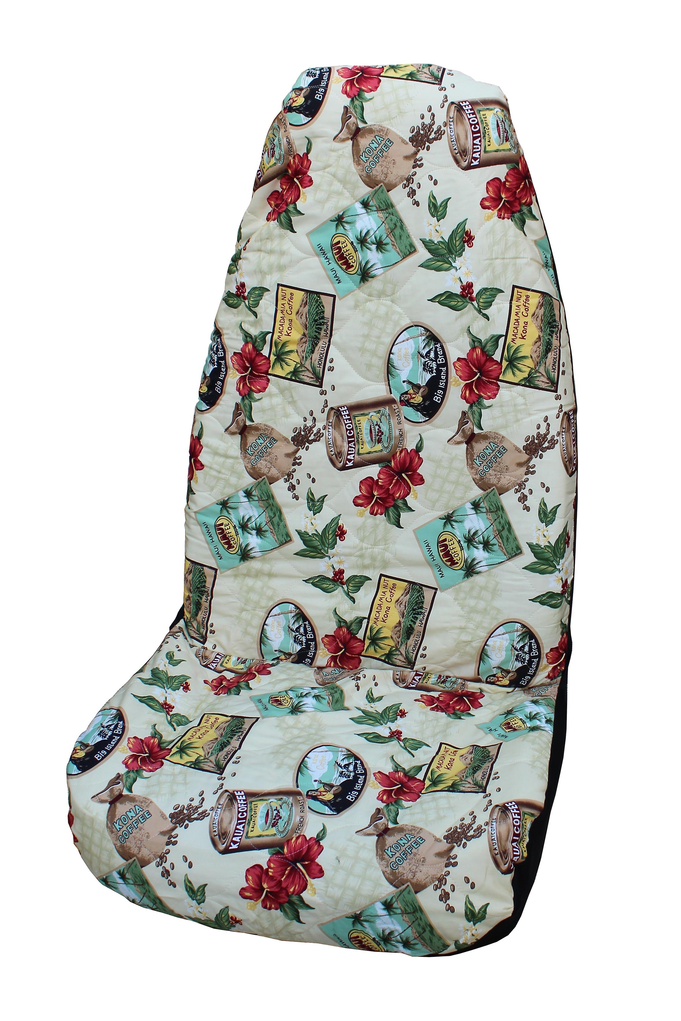 Side Airbag Optional; Kona Coffee Hawaiian Car Seat Covers