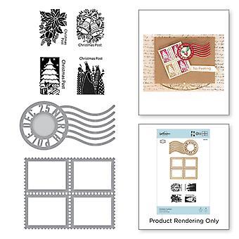 Spellbinders Stamp and Die Set - Becca Feeken - Christmas Postman