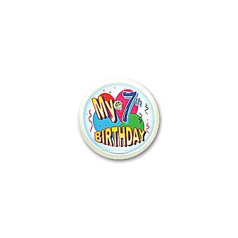 Mein 7. Geburtstag blinkende Taste (Pack von 6)