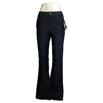 IMAN Global Chic Women's llusion Pull-On Bootcut Jean Blue 734928406