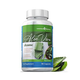 Aloe Vera Cleanse Suitable For Vegetarians and Vegans - 90 Capsules - Colon Cleanser - Evolution Slimming