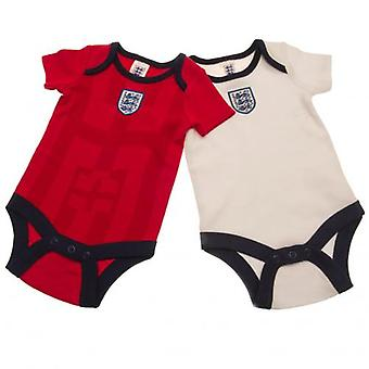 England FA 2 Pack Bodysuit 98 Retro 12-18 Months