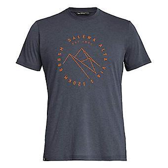 Salewa High Street Dri-Rel M S/S T-Shirt, Men's, Blue (Premium Navy Melange), 46/S