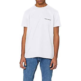 Tommy Jeans Tjm Logo Pocket Tee T-shirt, White (Classic White), X-Small Men