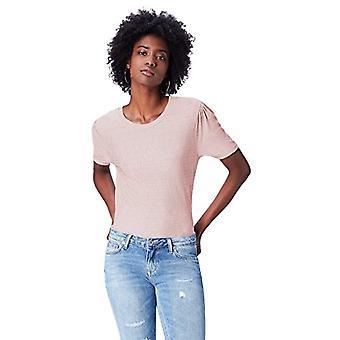 Amazon brand - find. Women's Crew neck T-shirt, Pink (Pale Pink), 44, Label: M