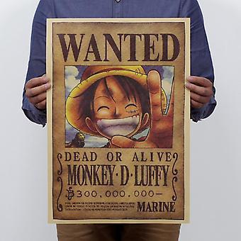 One Piece Luffy Vintage Kraft Paper