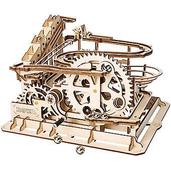 FengChun Hand gekurbelt Marmor laufen Holz Modell Kits Montage 3D Holz Puzzle mechanische Modell Kits