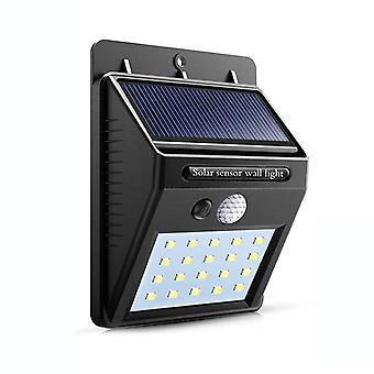 Led Flashlight Outdoor Sensor Wall Solar Garden Street Light