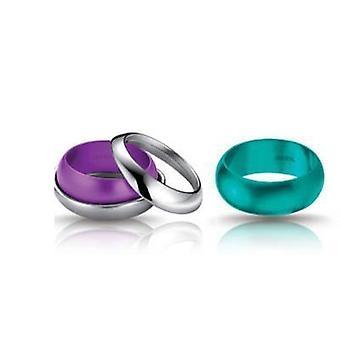 Breil juveler - i hemlighet samling s / s ring och 2 aluminium bangle storlek 14 tj1184