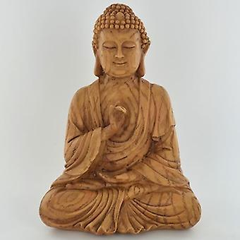 Tre effekt sittende Buddha ornament 18cm