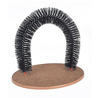 Arch Pet Cat Self Groomer With Round Fleece Base Cat Toy Brush Toys For Pets Scratching Devices