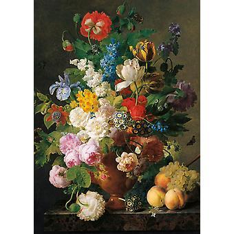 Clementoni Museum Van Dael Skål med blommor högkvalitativt pussel (1000 stycken)