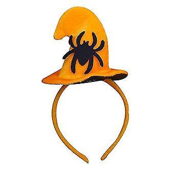 Halloween Witch Hat Pumpkin Hat Headband(Spider)