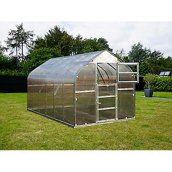 Drivhus polycarbonat TITAN Dome 320, 5m², 2,5x2m, Sølv