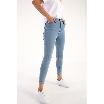 High Waist 5-pocket Skinny Jeans