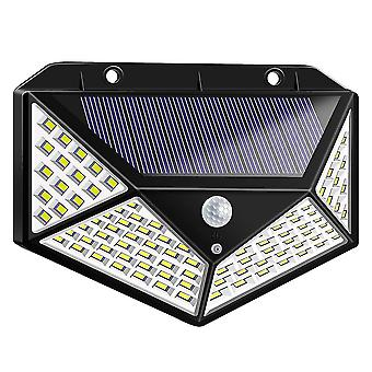 13X9,5cm preto 100led 1pcs luz solar ao ar livre 100 led super brilhante sensor de movimento luz sem fio impermeável luzes de parede de segurança à prova d (bl dt3490