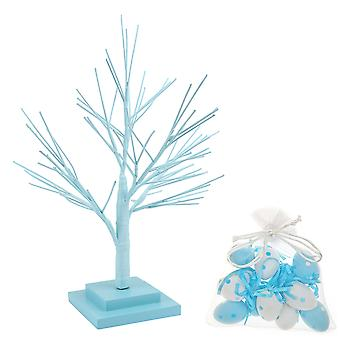 53cm Pastel Blue Tabletop Easter Tree with Matching Decorations for Home