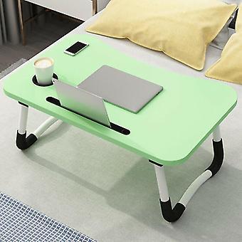 (Groen) Draagbare verstelbare opvouwbare laptop bureau opvouwbare studie computer bed tafelstandaard