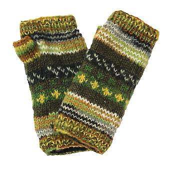 Hand Knitted Woollen Nordic Wrist Warmers