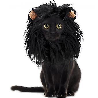 Adjustable Pet Lion Wig With Ears For Small  Medium And Large Dog(M)