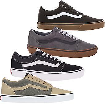 Vans Mens Ward Low-Top Casual Suede Canvas Trainers Sneakers