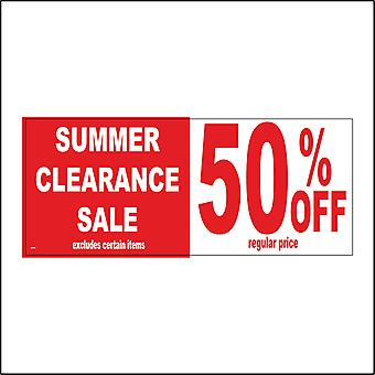GE295 Summer Clearance Sale Sign