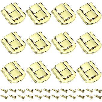 12 stuks toggle latch case bagage sluiting 20 x 25 mm houten vergrendeling lock toggle borstslot vergrendeling vintage