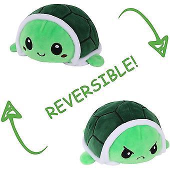 Juguetes de peluche de tortuga de peluche, muñecas de peluche de tortuga reversibles, ¡muestre su estado de ánimo sin decir una palabra! Morado