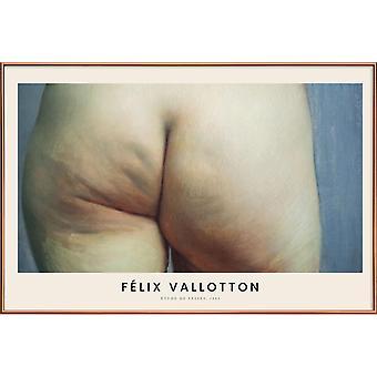 JUNIQE Print - Vallotton - Etude de Fesses - Classic Art Poster in Cream White