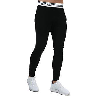 Men's Gym King Taped Jersey Jog Pants in Black