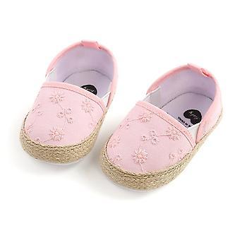 طفل حديثا سرير أحذية الزهور طباعة زلة على أحذية الطفل لينة