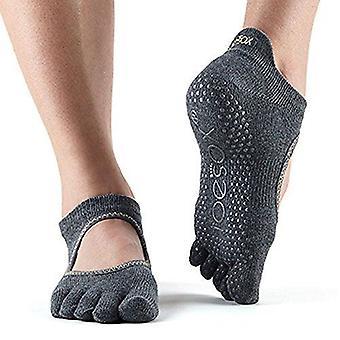 ToeSox Full Toe Bella Bellarina Grepp Strumpor för Barre Pilates Yoga Dance - Kol