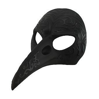 Zwarte patroon kraai snavel carnaval masker muur opknoping