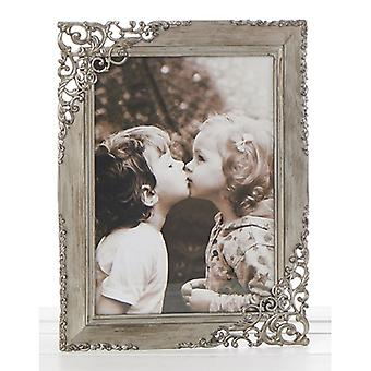 Rustic Steel Lace Frame 5x7