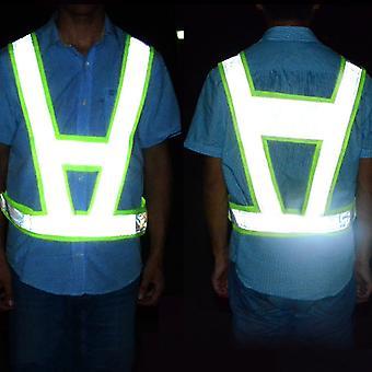 Reflexná bezpečnostná vesta v tvare písmena V Dopravné bezpečnostné vesty Chaleco Svetelné reflexné vesty
