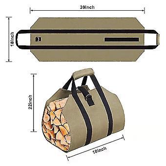 Sacs de bois de chauffage, sacs de transport en bois de cheminée, sacs de rangement multifonctionnel de grande capacité, transport en bois robuste