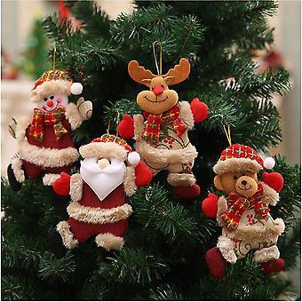 Acessórios de árvore de Natal, estatueta de Natal pendente