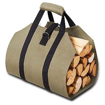 Mile  Heavy Duty Canvas Log Carrier, Portable Canvas Firewood Storage Bag, Multifunctional Firewood Tote Bag With Handle, For Outdoor Sport Garden Bbq