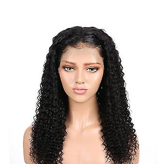 Long Curly Lace Front Human Hair Wigs Kinky Curly Wig