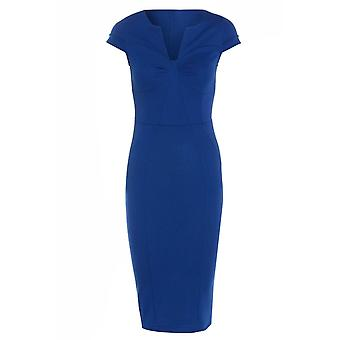 Get The Look Deep Pencil Dress With Seamed Bust