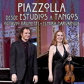 Piazzolla / Darvarova / Brune - Desde Estudios a Tangos [CD] USA import