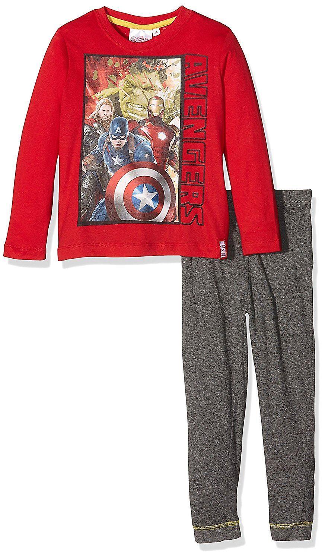 Boys Marvel Avengers Long Sleeve Pyjama Set