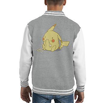 Söpö Pika Pikachu Pokemon lapsi yliopistojoukkue takki
