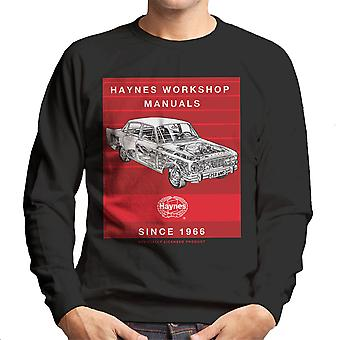 Haynes Workshop Manual 0025 Ford Zodiac Stripe Men's Sweatshirt
