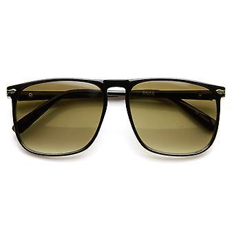 نظارات الطيار البلاستيك المسطحة أعلى الإطار مربعة رقيقة الحديثة