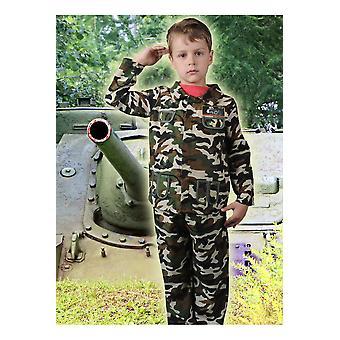 Trajes de los niños soldado de niño de muchachos del ejército