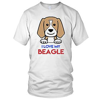 Jeg elsker min Beagle - hunden Mens T-skjorte
