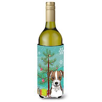 Kerstboom en Jack Russell Terriër wijnfles drank isolator Hugger