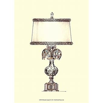 Boudoir Lamp V Poster Print (10 x 13)